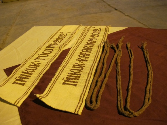 the prizes included a partial and full scholarship for the first place and runner-up. also these artisan made sashes and braid extensions for the ladies.