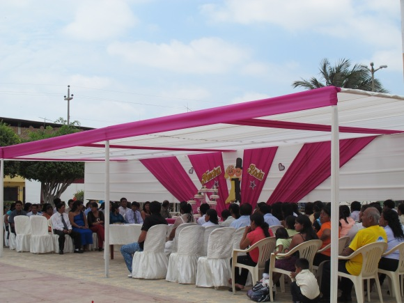 the massive marriage ceremony. this is quite popular in peru, as it allows the opportunity for people to get married that would not have been able to afford to otherwise.