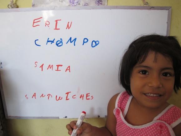 samia learned how to write our nicknames.