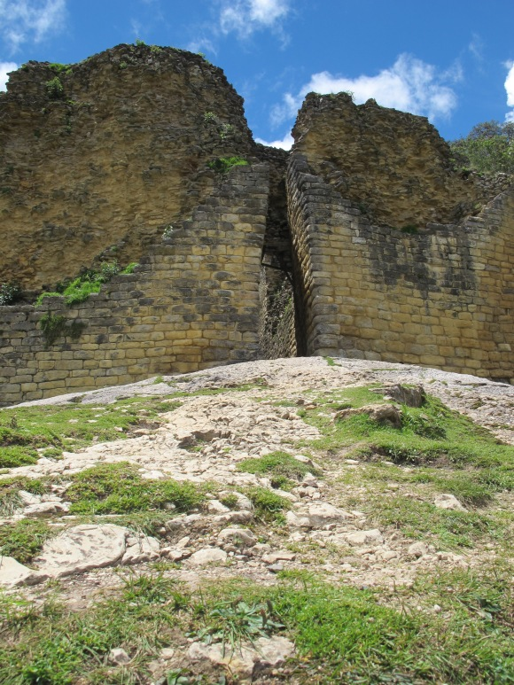 one of the three entrances into the three-level fortress.