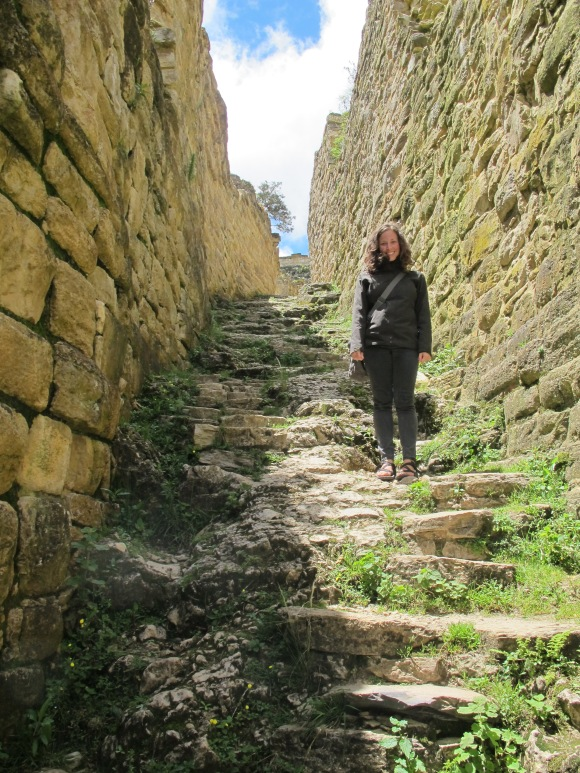 hiking up the entrance to the first level. i am convinced that the incans had to have incredible legs....
