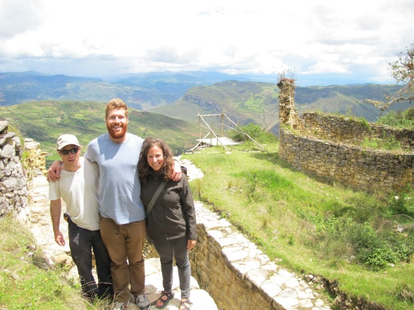 the crew with some of the ruins and the incredible view.