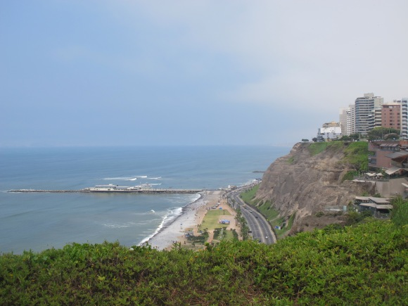the famous miraflores coastline.