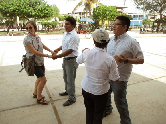after giving a little speech on gender equality, the band decided to play more more tunes, which resulted in a mini dance party. i was partnered with a regidor (equivalent to a city council member/officer).