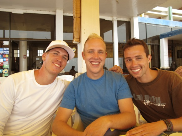 casey, sam and steve at lunch.