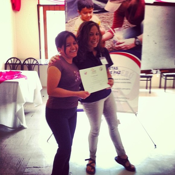 doris and i after she received her certificate of completion!