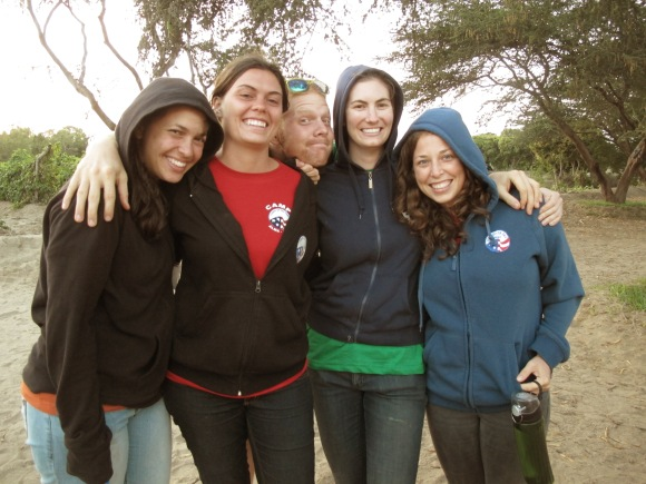 my lambaysexy ladies (+zack) at camp alma.
