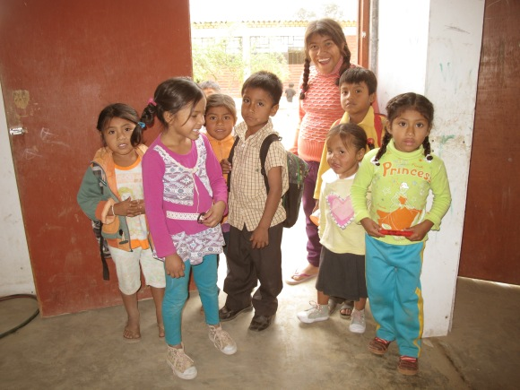 a group of the students from the primaria that my youth group and i have started to work with.